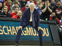 Washington, DC - March 10, 2018: Davidson Wildcats head coach Bob McKillop during the Atlantic 10 semi final game between St. Bonaventure and Davidson at  Capital One Arena in Washington, DC.   (Photo by Elliott Brown/Media Images International)