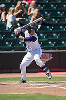 Brett Austin (7) of the Winston-Salem Dash at bat against the Salem Red Sox at BB&T Ballpark on April 17, 2016 in Winston-Salem, North Carolina.  The Red Sox defeated the Dash 3-1.  (Brian Westerholt/Four Seam Images)