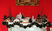 """Resting on the mantel in the Red Room at the White House in Washington, D.C. on December 6, 1999 is another winter vignette paying tribute to """"Save America's Treasures""""..Credit: Ron Sachs / CNP"""