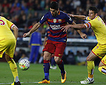 23.04.2016 Barcelona. Liga BBVA day 35. Picture show Luis Suarez in action during game between FC Barcelona against Real Sporting at Camp nou