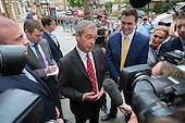 UKIP leader Nigel Farage launches new EU Referendum campaign poster, London