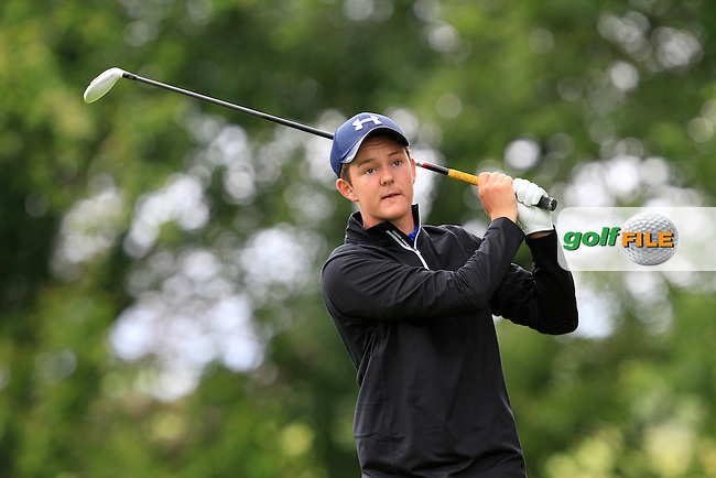John Ross Galbraith (Whitehead) on the 8th tee during round 1 of The Mullingar Scratch Cup in Mullingar Golf Club on Sunday 3rd August 2014.<br /> Picture:  Thos Caffrey / www.golffile.ie