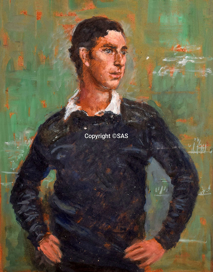 BNPS.co.uk (01202 558833)<br /> Pic: SAS/BNPS<br /> <br /> Preparatory painting of a young Prince Charles.<br /> <br /> An amazing 30 year old time capsule of Royal artworks have been found gathering dust in a dilapidated estate near Tonbridge in Kent.<br /> <br /> They form part of a remarkable collection of 400 works by the almost forgotten painter Bernard Hailstone, that have been locked away in his abandoned studio at Hadlow Tower since his death in 1987.<br /> <br /> Amongst the famous figures who sat for Mr Hailstone, who died in 1987, were the Queen, the Queen Mother, Prince Charles, Winston Churchill, former US president Jimmy Carter and actor Laurence Olivier.<br /> <br /> While sitting for her portrait at Buckingham Palace, The Queen asked him to adjust the aerial so she could watch the horse racing on the TV.<br /> <br /> The then US president Jimmy Carter was sketched by Mr Hailstone during a flight from London to New York, while Mr Hailstone and Winston Churchill discussed aliens during their sitting at Chartwell.