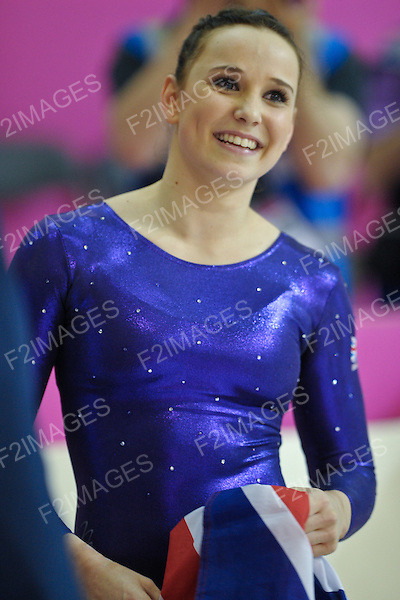 European Gymnastics Championships Brussels 13.5.12.Individual Apparatus Finals. Hannah Whelan of Great Britain finished finished 3rd on floor and beam