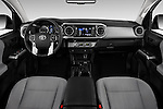 Stock photo of straight dashboard view of 2016 Toyota Tacoma SR5 4 Door Pickup Dashboard
