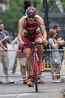 Bence Lehman of Hungary during the 2017 Madrid ITU Triathlon World Cup in Madrid, May 28, 2017. Spain.. (ALTERPHOTOS/Rodrigo Jimenez) /NortePhoto.com