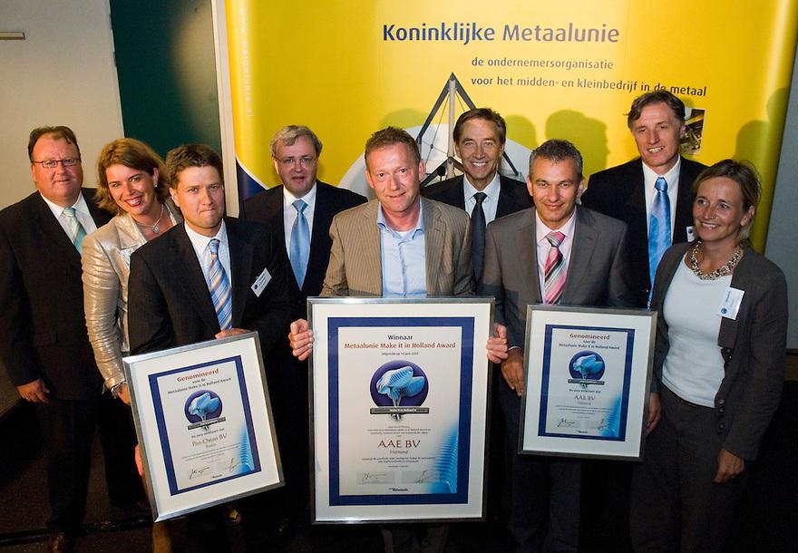 Nederland, Hilversum, 12 juni 2007.Koninklijke Metaalunie.Uitreiking Make it in Holland Award... Foto (c) Michiel Wijnbergh.