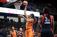 Washington, DC - July 30, 2019: Phoenix Mercury center Brittney Griner (42) goes up for a layup during first half action of game between the Phoenix Mercury and Washington Mystics at the Entertainment & Sports Arena in Washington, DC. (Photo by Phil Peters/Media Images International)