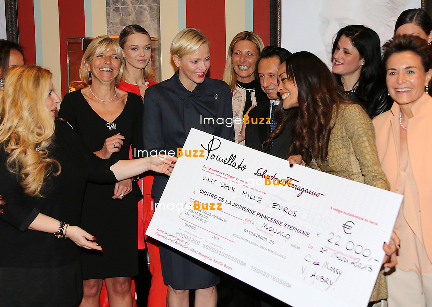 """H. S. H. PRINCESS CHARLENE OF MONACO  attends the 2013 Ladies Lunch in Monaco. .22,000 Euros were raised for the """" Centre de la Jeunesse Princesse Stéphanie """",  an activity center for the youth living in the Principality.?.Monaco, March 21, 2013."""