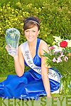 Beautiful Aisling O'Sullivan Currans relaxes at home in her garden on Saturday after winning the 2009 Rose of Cons title in the River Island Hotel Castleisland the night before.