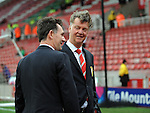 Manchester United Manager Louis van Gaal inspects the pitch<br /> - Barclays Premier League - Stoke City vs Manchester United - Britannia Stadium - Stoke on Trent - England - 26th December 2015 - Pic Robin Parker/Sportimage