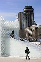 Ice sleding at the 2007 Quebec City Winter Carnival (Carnaval de Québec)