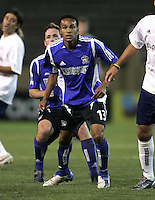 2 April 2005:  Ricardo Clark of Earthquakes against Revolution at Spartan Stadium in San Jose, California.   Earthquakes and Revolutions tied at 2-2.  Credit: Michael Pimentel / ISI