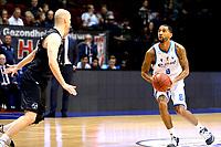GRONINGEN - Basketbal, Donar - Apollo , Martiniplaza, Dutch Basketbal League seizoen 2019-2020, 18-1-2020,  Donar speler Jason Dourisseau legt aan voor een driepunter in de zoemer van tweede kwart