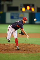 Florida Fire Frogs pitcher Devan Watts (40) during the Florida State League All-Star Game on June 17, 2017 at Joker Marchant Stadium in Lakeland, Florida.  FSL North All-Stars defeated the FSL South All-Stars  5-2.  (Mike Janes/Four Seam Images)