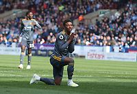 HUDDERSFIELD, ENGLAND - APRIL 06:  Leicester City's Demarai Gray reacts to a missed chance during the Premier League match between Huddersfield Town and Leicester City at John Smith's Stadium on April 6, 2019 in Huddersfield, United Kingdom. (Photo by Stephen White - CameraSport via Getty Images)
