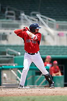 GCL Red Sox third baseman Nicholas Northcut (24) at bat during a game against the GCL Orioles on August 9, 2018 at JetBlue Park in Fort Myers, Florida.  GCL Red Sox defeated GCL Orioles 10-4.  (Mike Janes/Four Seam Images)