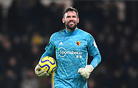 1st January 2020; Vicarage Road, Watford, Hertfordshire, England; English Premier League Football, Watford versus Wolverhampton Wanderers;  Ben Foster of Watford celebrates after winning the watch - Strictly Editorial Use Only. No use with unauthorized audio, video, data, fixture lists, club/league logos or 'live' services. Online in-match use limited to 120 images, no video emulation. No use in betting, games or single club/league/player publications