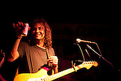 Adam Granduciel of The War on Drugs enjoys a PBR during the Hopscotch Music Festival in Raleigh, N.C., Friday, Sept. 10, 2010.