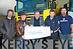 BUILD 4 LIFE: Tony Nolan of Garryowen Transport, Tralee presenting a cheque to Joe Browne Build 4 Life Cystic Fibrosis with monies raised from the Scania Ring of Kerry Truck Run 2010 at the Garryowen Transport yard, Tralee on Friday l-r: Gary Cowham Tony Nolan, Joe Browne, Ger Culloty and Michael Connolly.