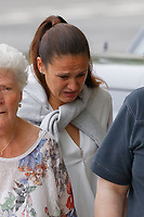 Pictured: Rhian Nokes arrives at Swansea Crown Court. Friday 08 June 2018<br /> Re: A school sports coach who lied about having a brain tumour to start a relationship with a pupil is due to be sentenced today at Swansea Crown Court.<br /> Rhian Nokes, 29, was working at a school in South Wales in 2010 when she befriended a 13-year-old pupil.<br /> Over the course of the next three years, Nokes lied to the pupil about her health and family issues in order to gain sympathy and trust from her. The defendant initially encouraged the pupil to exchange mobile numbers and text messages outside of school, Swansea Crown Court heard.<br /> She progressed to encouraging the pupil, then aged 15, to meet outside of school and start a sexual relationship.