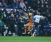 Hull City's Jackson Irvine and Preston North End's Daniel Johnson<br /> <br /> Photographer Stephen White/CameraSport<br /> <br /> The EFL Sky Bet Championship - Preston North End v Hull City - Wednesday 26th December 2018 - Deepdale Stadium - Preston<br /> <br /> World Copyright &copy; 2018 CameraSport. All rights reserved. 43 Linden Ave. Countesthorpe. Leicester. England. LE8 5PG - Tel: +44 (0) 116 277 4147 - admin@camerasport.com - www.camerasport.com