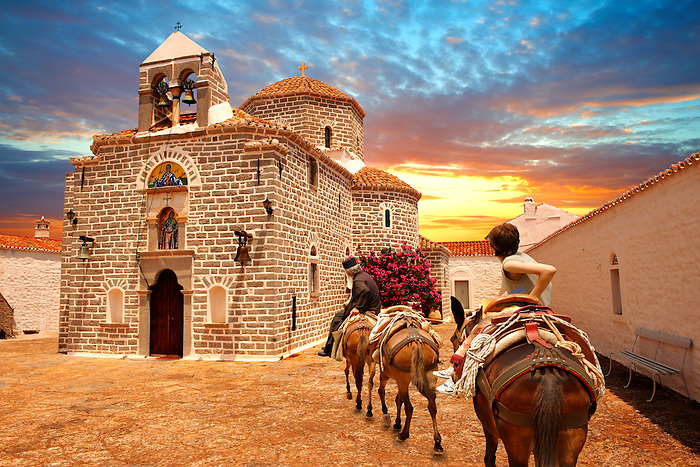 Greek Orthodox Monastery of the Profitis Ilias, Hydra, Greek Saronic Islands