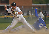 Anthony D'Onofrio #17, Wantagh shortstop, left, records a force out as Jay Melgar #21 of Division Avenue slides into second base in the top of the fourth inning of a Nassau County varsity baseball game at Wantagh High School on Thursday, May 4, 2017. Wantagh won by a score of 7-6.