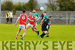 Action from St Pats Blennerville v Listry in Division 3 of the Senior Football County league on Sunday in Blennerville