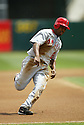 Chone Figgins, of the Los Angeles Angels, in action against the Oakland A's during their game on April 22, 2006...Angels win 5-4..Rob Holt / SportPics