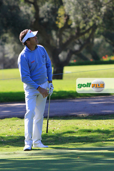 Santiago Luna (ESP) during the 2nd day at the  Andalucía Masters at Club de Golf Valderrama, Sotogrande, Spain. .Picture Denise Cleary www.golffile.ie