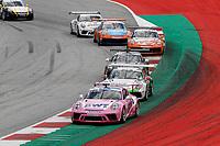 12th July 2020; Spielberg, Austria;  Porsche Mobil 1 Supercup race day;  1 Jaxon Evans NZ, BWT Lechner Racing 23 Marvin Klein F, Martinet by Almeras held at Spielberg Austria