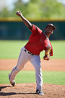 Arizona Diamondbacks pitcher Jose Almonte (19) during an Instructional League game against the Colorado Rockies on October 7, 2016 at Salt River Fields at Talking Stick in Scottsdale, Arizona.  (Mike Janes/Four Seam Images)