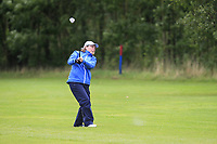 Helen Walsh (Mount Juliet) on the 1st fairway during the Final round of the Irish Mixed Foursomes Leinster Final at Millicent Golf Club, Clane, Co. Kildare. 06/08/2017<br /> Picture: Golffile | Thos Caffrey<br /> <br /> <br /> All photo usage must carry mandatory copyright credit      (&copy; Golffile | Thos Caffrey)