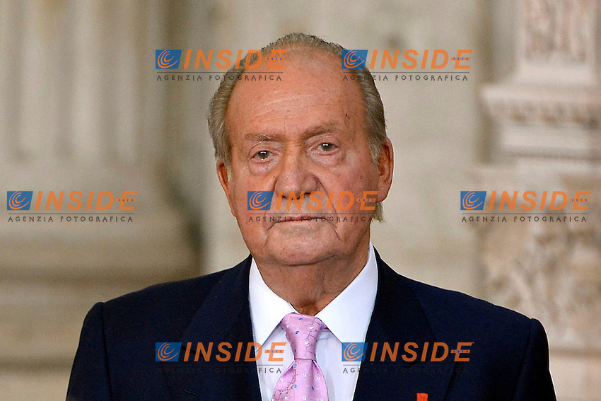 Juan Carlos<br /> Madrid 18/06/2014 Palazzo Reale. Cerimonia di abdicazione del Re di Spagna in favore del figlio.<br /> Photo Pool / Alterphotos / Insidefoto