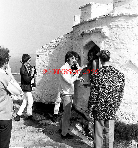 Beatles 1967 John Lennon films Magical Mystery Tour at Newquay ..© Chris Walter..