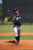 GCL Yankees 1 pitcher Anderson Severino (68) delivers a pitch during the first game of a doubleheader against the GCL Tigers on August 5, 2015 at Tigertown in Lakeland, Florida.  GCL Tigers derated the GCL Yankees 5-2.  (Mike Janes/Four Seam Images)