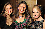 From left: Pinder Gill, Nidhika Mehta and Sharin Gaille at a UNICEF fundraiser at the home of Becca Cason Thrash Thursday Jan. 14,2010.(Dave Rossman/For the Chronicle)