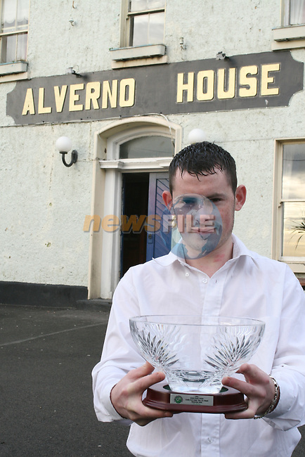 Karl O'Donoghue with his trophy...Photo NEWSFILE/Jenny Matthews.(Photo credit should read Jenny Matthews/NEWSFILE)....This Picture has been sent you under the condtions enclosed by:.Newsfile Ltd..The Studio,.Millmount Abbey,.Drogheda,.Co Meath..Ireland..Tel: +353(0)41-9871240.Fax: +353(0)41-9871260.GSM: +353(0)86-2500958.email: pictures@newsfile.ie.www.newsfile.ie.FTP: 193.120.102.198.