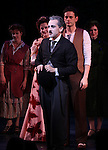 Christiane Noll, Rob McClure, Wayne Alan Wilcox & Company during the Curtain Call and check presentation to The Lil' Bravest Charity at 'Chaplin' at the Barrymore Theatre in New York City on 11/09/2012