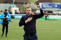 O's Justin Edinburgh @ FT during Sutton United vs Leyton Orient, Vanarama National League Football at the Borough Sports Ground on 13th April 2019