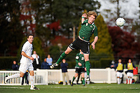 Aaron Gaide (4) of the Dartmouth Big Green. Dartmouth defeated Monmouth 4-0 during the first round of the 2010 NCAA Division 1 Men's Soccer Championship on the Great Lawn of Monmouth University in West Long Branch, NJ, on November 18, 2010.