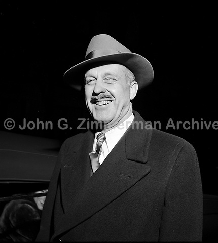 Drew Pearson (1897-1969) noted American columnist. Washington D.C. 1951. CREDIT: JOHN G. ZIMMERMAN