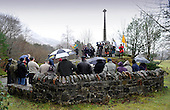 Glencoe Massacre commemoration - onlookers and marchers gather at the Memorial - picture by Donald MacLeod -13.02.13 - 07702 319 738 - clanmacleod@btinternet.com - www.donald-macleod.com
