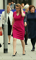 Pictured: Kirsty Williams AM arrives at Swansea University Bay Campus. Saturday 14 October 2017<br /> Re: Hilary Clinton, the former US secretary of state and 2016 American presidential candidate will be presented with an honorary doctorate during a ceremony at Swansea University's Bay Campus in Wales, UK, to recognise her commitment to promoting the rights of families and children around the world.<br /> Mrs Clinton's great grandparents were from south Wales.