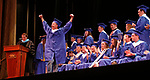 Torrington, CT 062117MK11 Israel Diaz celebrates during the Lewis Mills High School commencement exercises at the Warner Theatre in Torrington on Wednesday night. Michael Kabelka / Republican-American