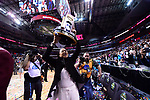 DALLAS, TX - APRIL 2:  South Carolina Gamecocks celebrates during the 2017 Women's Final Four at American Airlines Center on April 2, 2017 in Dallas, Texas.  (Photo by Ben Solomon/NCAA Photos via Getty Images)