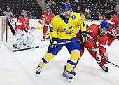 Calle Klingberg (Sweden - 17), Michal Hlinka  (Czech Republic - 12) - Sweden defeated the Czech Republic 4-2 at the Urban Plains Center in Fargo, North Dakota, on Saturday, April 18, 2009, in their final match of the 2009 World Under 18 Championship.