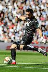 Granada´s goalkeeper Oier Olazabal during 2014-15 La Liga match between Real Madrid and Granada at Santiago Bernabeu stadium in Madrid, Spain. April 05, 2015. (ALTERPHOTOS/Luis Fernandez)