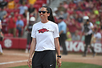 NWA Democrat-Gazette/J.T. WAMPLER Image from the Razorbacks' game against Wichita State Sunday May 20, 2018 during the NCAA Regional Softball Tournament at Bogle Park in Fayetteville. Arkansas won 6-4 and will advance to the Super Regional Tournament.